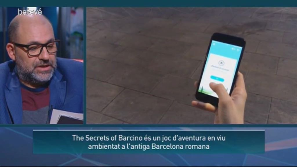 The Secrets of Barcino at Barcelona's television Betevé